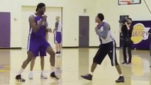 Roy Hibbert Accidentally Slaps Lou Williams While Play Fighting