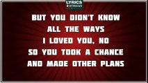 Cry Me A River - Justin Timberlake tribute - Lyrics