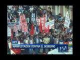 Quito: Militares en servicio pasivo se sumaron a la marcha de los trabajadores