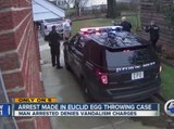 Man arrested in bizarre Euclid egg-throwing case