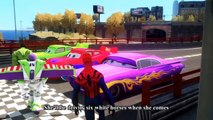 Cars Songs For Kids ♪ She'll be coming round the mountain ♪ Cars McQueen Spider-Man Hulk HD