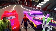 Spiderman vs Hulk Kids Songs ♪ Rock-A-Bye Baby ♪ Cars McQueen Hulk Toy Lightyear HD