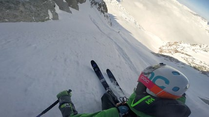 Epic Couloirs From The Top Of Aiguille Du Midi With Aurelien...