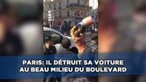 Paris: À Barbès, un homme détruit sa voiture au milieu du boulevard