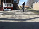 My first varial kickflip.