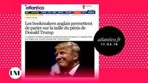 Des bookmakers anglais proposent de parier sur la taille du pénis de Donald Trump ! -ZAP ACTU du 18/03/2016