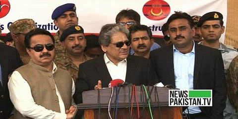گورنر سندھ ڈاکٹر عشرت العباد خان کا لیاری ایکسپریس وے کا دورہ
