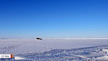 Video Shows U.S. Navy Submarine Emerging From Beneath The Arctic Ice