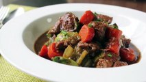 Irish Pork Stew Recipe Pork Stewed with Guinness Beer and Vegetable St. Patricks Day Reci