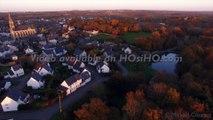 Saint Lambert du Lattay vu par drone en automne, Pays de La Loire, France-HD 1080p