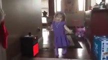 cute little  girl dancing very cute