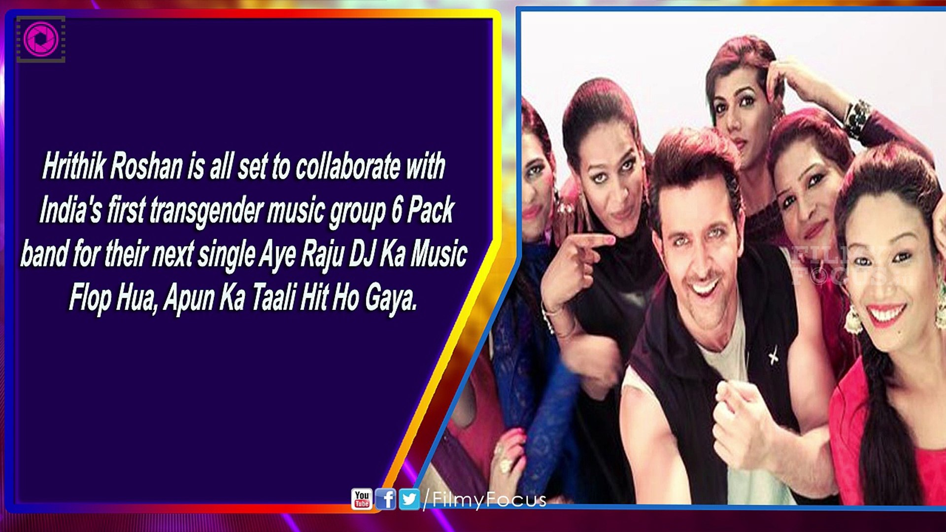 Hrithik Roshan Joins Hands With 6 Pack Band - Filmyfocus.com