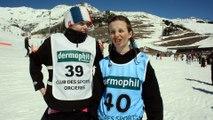 Léa et Noélyne, du club de ski Morillon en Haute-Savoie, participent aux 17ème Ski Games Rossignol