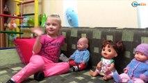 Ненуко и Беби Борн. Ярослава устроила пикник с куклами. Видео для детей. Dolls Baby Born & Nenuco