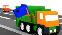 Dessin Animé En 3d Pour Enfants Quatre Voitures Colorées