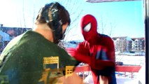 Spiderman vs Bane in Real Life! Spiderman is Trapped in a Jail - Fun Superhero Battle Movie!