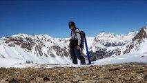 Col des Trois Frères Mineurs avec des skis de randonnée