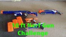 10ft Nerf Gun Challenge (With Cyrus & Lucas)