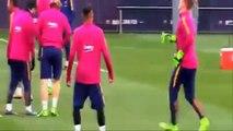 Barça  échange de coups de poing à l'entraînement entre Neymar et Rafinha