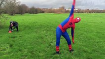Spiderman vs Venom in Real Life - Superhero Comedy Football Fights Movie