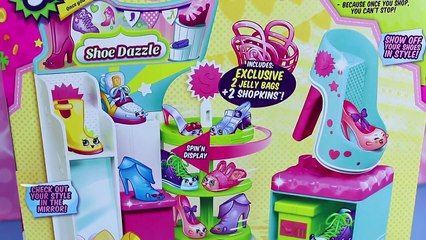 NEW Shopkins Season 3 Playset SHOE DAZZLE Limited Edition Bags Exclusive Jelly Shopkins To