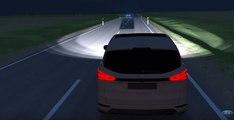 El sistema de luces largas de Ford que no deslumbra