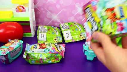SHOPKINS SEASON 3 Giant Play Doh Surprise Egg + Surprise Baskets, Blind Bags & 12 Pack fro