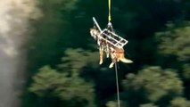 Sauvetage d'un cheval par hélicoptère