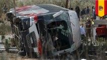 Deadly bus crash kills 13 students in Spain, dozens more injured