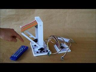 Maquette de store automatisé, technologie au collège