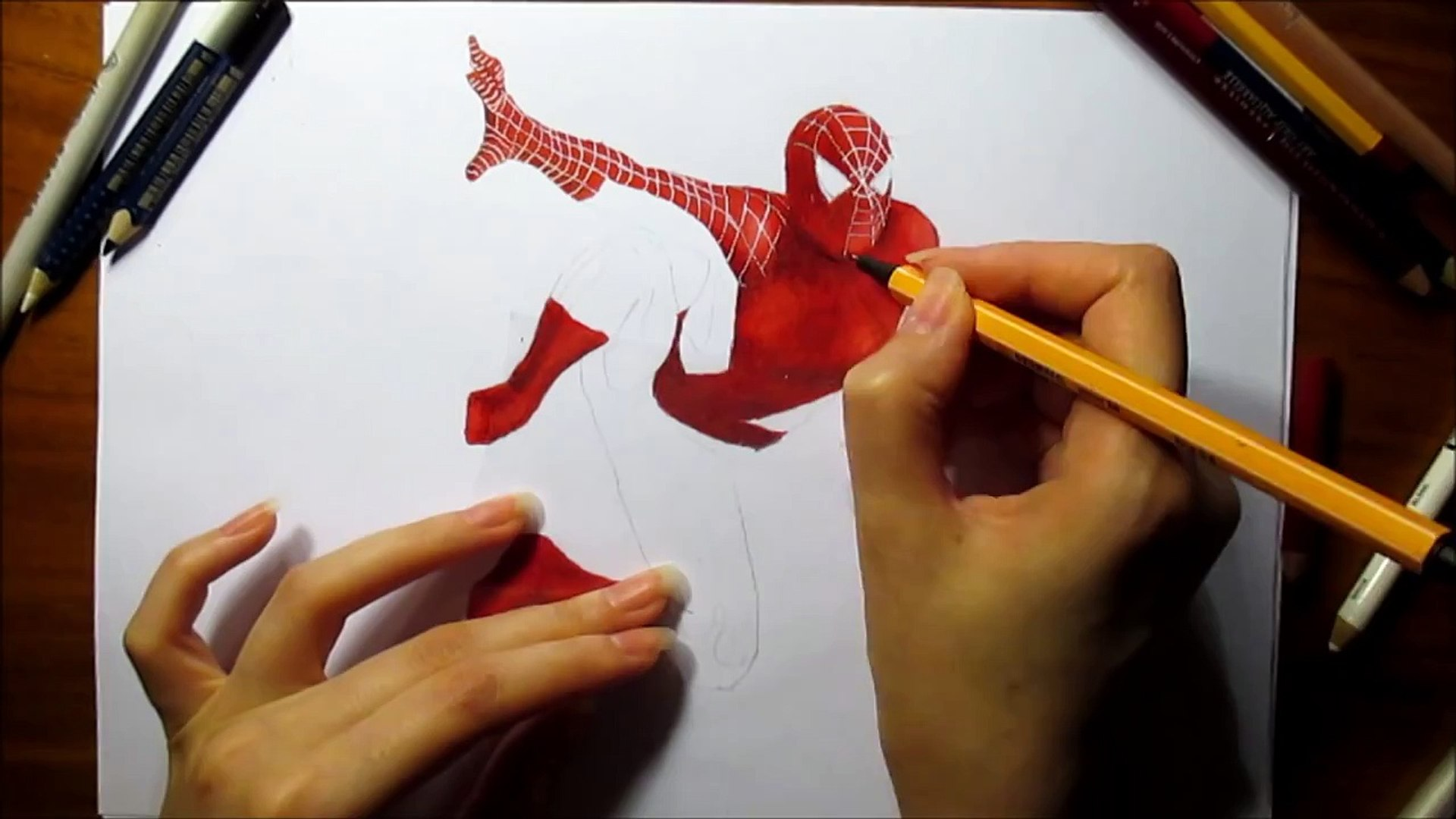 3d Pencil Drawing Spider Man Speed Draw Jasmina Susak How To