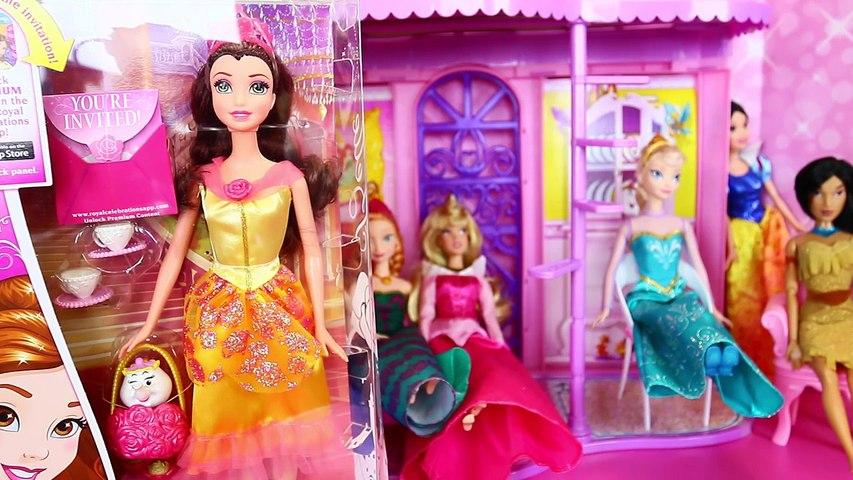 Disney Princess Belle Tea Party Doll & Ipad Princess App Game Play Beauty & The Beast Disn