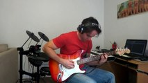 Van Halen: Jump (LIVE Guitar and Keyboard solos One Man Band Cover)
