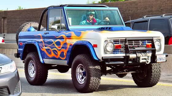 Jared Leto Shows Off His Vintage Ford Bronco