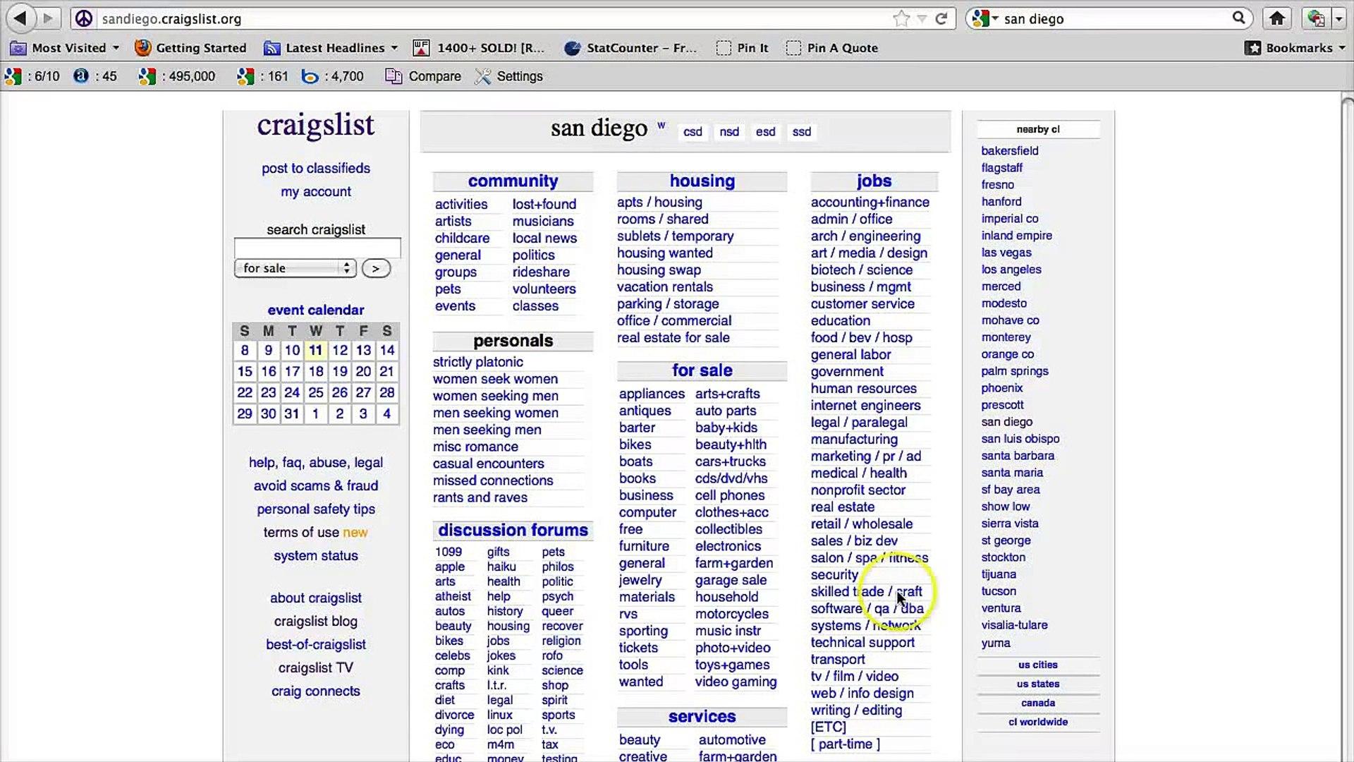 Craigslist Classifieds Los Angeles >> Craigslist San Diego