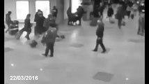 Attentato all'aeroporto di Bruxelles: il video dell'esplosione in diretta