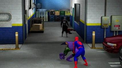 Spiderman vs Venom vs Carnage vs Green Goblin - Spider-Man And His Enemies - WWE 2K15