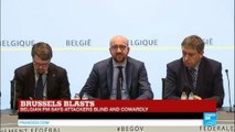 Belgian PM Charles Michel making statement on Brussels explosions