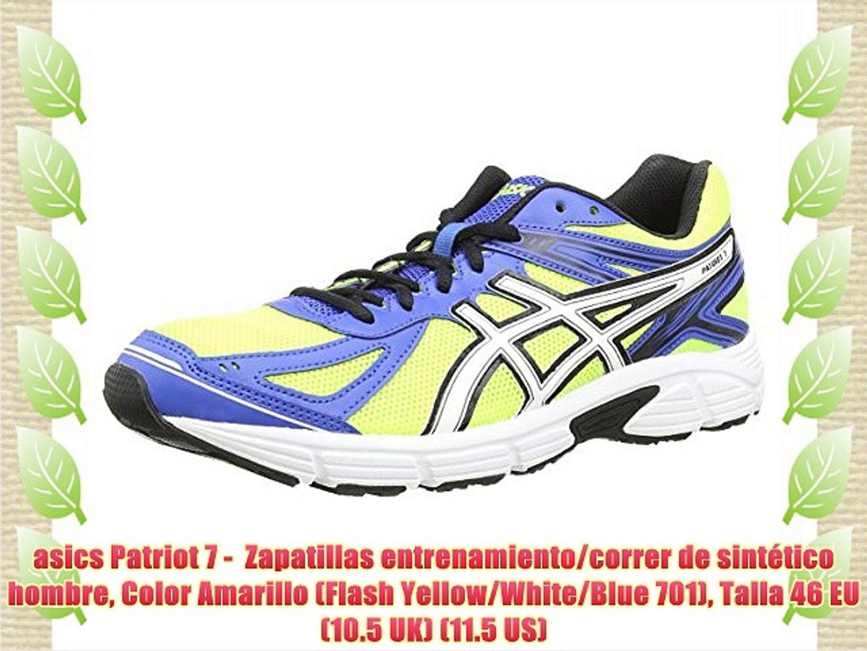 empujoncito Sangriento comprador  asics Patriot 7 - Zapatillas entrenamiento/correr de sintético hombre Color  Amarillo (Flash - video dailymotion