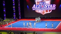 Cheer Extreme Cougars WINS NCA after MUSIC CUTS OFF!!