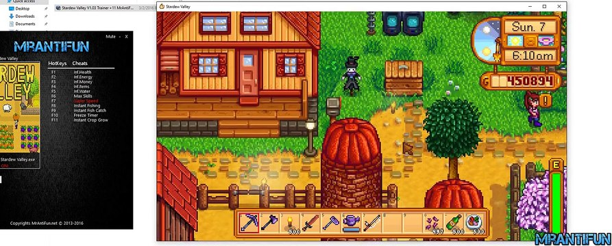 Stardew Valley Trainer , Easy Fishing
