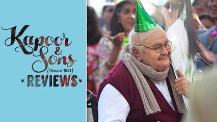 Dadu and his cake | Movie Review | Kapoor & Sons | Rishi Kapoor, Sidharth Malhotra