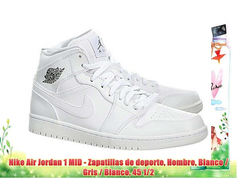 air jordan 1 mid blanco y gris chico