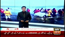 Two cars spotted floating at Clifton beach, Karachi