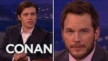 Nick Robinson Got Acting Tips From Chris Pratt - CONAN on TBS