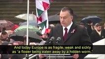 "Hungarian Prime Minister Viktor Orban: ""Fight Islam or Die"", Hungary Mar 15, 2016"