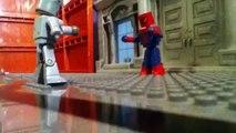 The amazing spiderman vs the rhino minimates stop motion mo
