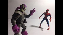 spiderman vs green goblin stop motion - stop motion spiderman vs duende verde