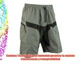 SANTIC Ciclismo Pantalones cortos Ocio Pantalones cortos con Pad Desmontable Liner Gris (M)