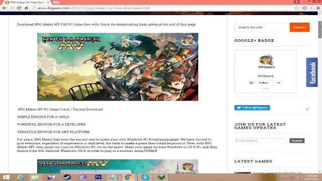 RPG Maker MV Crack Download